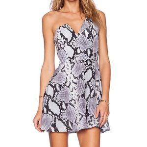 NBD snakeskin dress size medium